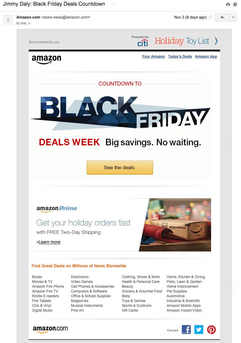 Image shows Amazon Black Friday Sale