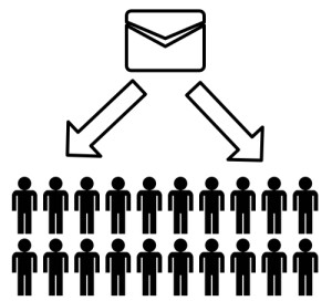 Image shows Mass Emailing