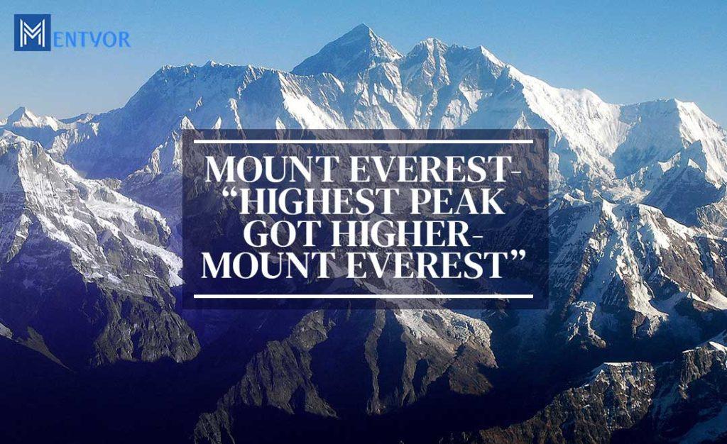 Mout Everest peak picture - Highest Peak Got Higher