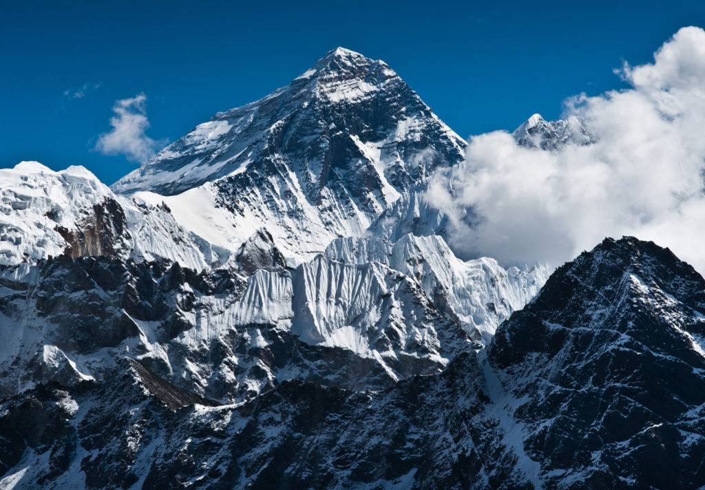 Mount Everest the tallest peak in the world
