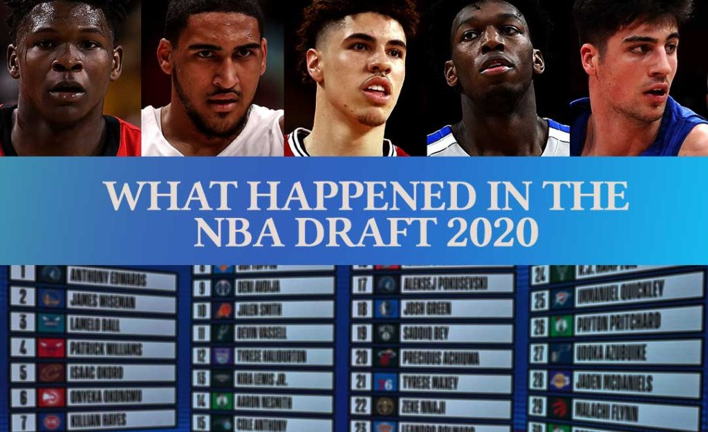 What happened in the NBA draft 2020